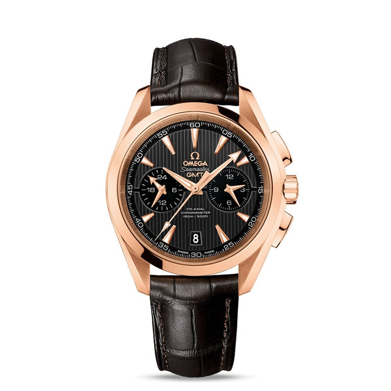 Omega Seamaster Aqua Terra Chronograph Watch Caliber 9605 rose gold case