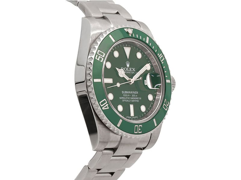 116610LV Rolex Submariner Date Green Dial and Bezel Mens Watch