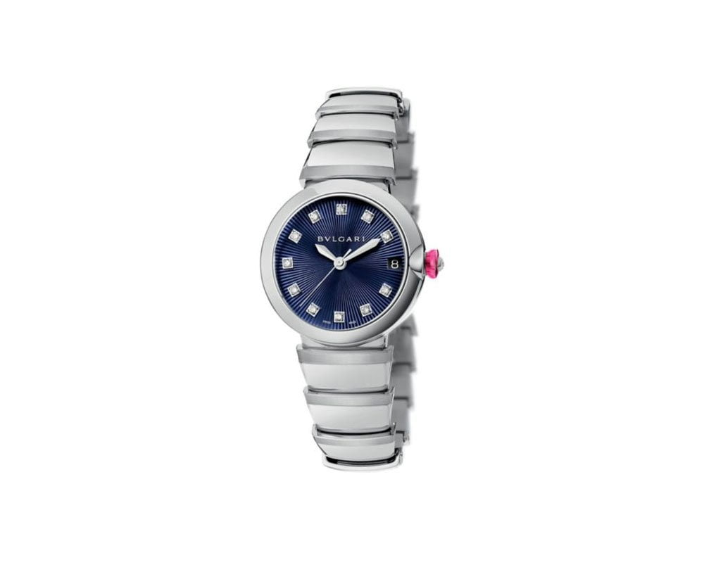 lu33c3ssd-11 Bvlgari Lvcea 33mm Blue Marine Dial Diamond Ladies