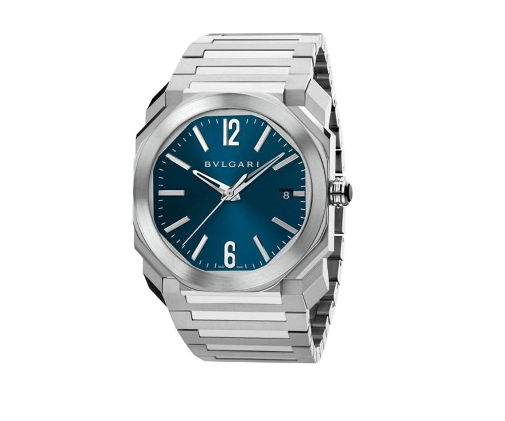 Bvlgari Octo bgo38c3ssd 102105 Blue Dial 38mm Automatic Mens Watch