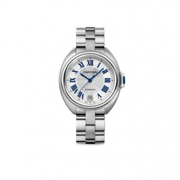Cartier Cle De Cartier WSCL0006 35mm Automatic Ladies Luxury Watch Caliber 1847 MC front view @majordor #majordor