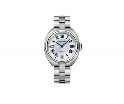 Cartier Cle De Cartier WSCL0006 35mm Automatic Ladies Luxury Watch Caliber 1847 MC front view @majordor #majordor