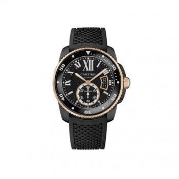 Calibre de Cartier W2CA0004 Diver Automatic Black ADLC Mens Watch caliber 1904 ps mc @majordor #majordor