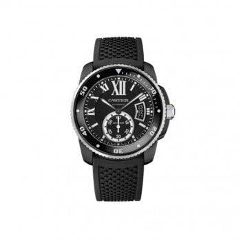 Calibre de Cartier Diver Automatic Carbon Mens Watch WSCA0006