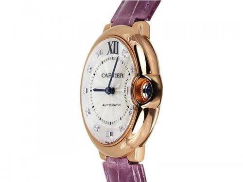 Cartier Ballon Bleu WE902028 Rose Gold Automatic Ladies Luxury Watch caliber 076 @majordor #majordor side view