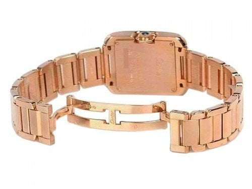 Cartier Tank Anglaise WJTA0004 Rose Gold Small Ladies Watch case back caliber 057 @majordor #majordor