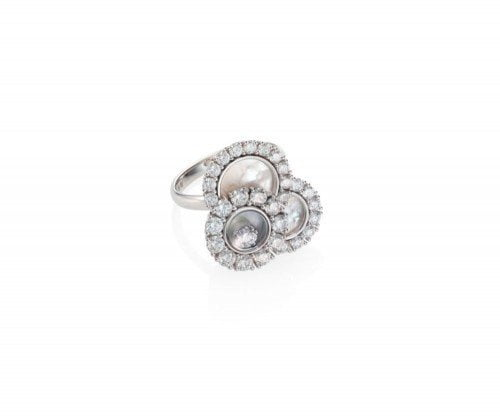 Chopard Happy Dreams Diamond Pearl White Gold Ring 829882-1010