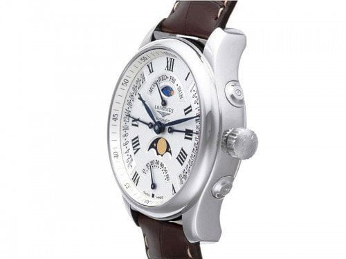 Longines Master Collection L2.739.4.71.3 Moon Phase 44mm Mens Watch side view