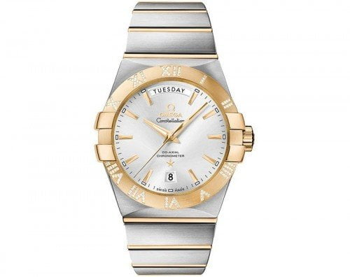 Omega Constellation 123.25.38.22.02.002 Co-Axial Automatic 38 mm Day-Date Mens Watch front view