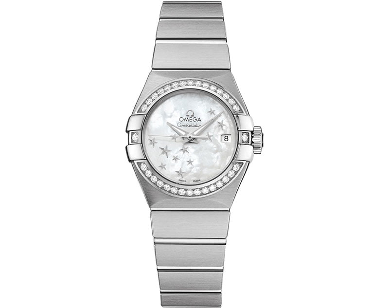 Omega Constellation Co-Axial Automatic Star 27mm Ladies Watch 12315272005001 front view