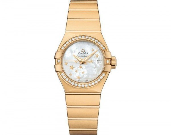 Omega Constellation Co-Axial Automatic Star 27mm Ladies Watch 12355272005001 front view