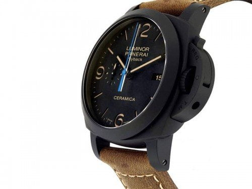 Panerai Luminor PAM00580 1950 3 Days Chronograph Flyback Ceramica side view