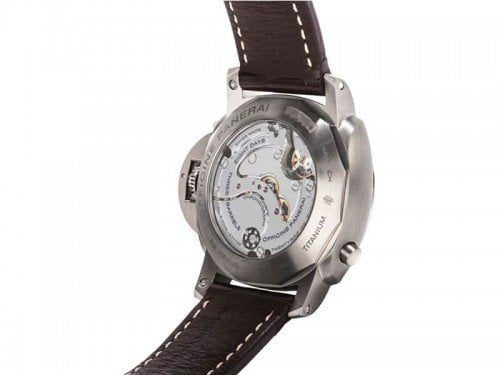 Panerai Luminor pam00311 1950 Monopulsante 8 Days GMT Titanio back case
