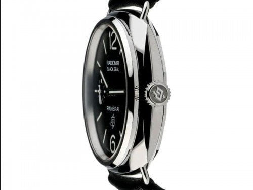 Panerai Radiomir PAM00380 Black Seal Acciaio Mens Watch limited edition side view 2
