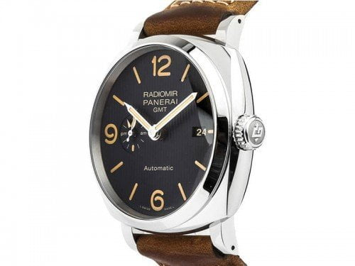 Panerai Radiomir PAM00657 1940 3 Days GMT ACCIAIO Mens Watch side view