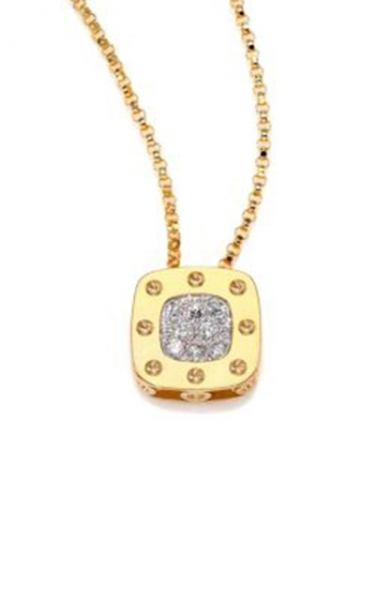 Roberto Coin White Rose Yellow Gold Diamonds Ladies Luxury Necklaces