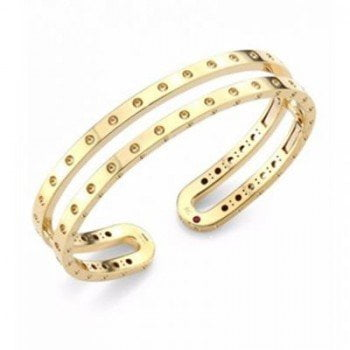 Roberto Coin Symphony Pois Mois 18K Yellow Gold Double Bangle