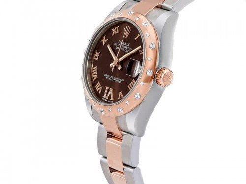 Rolex Lady Datejust 178341-blkrj 31 Diamonds Jubilee Bracelet Watch side view
