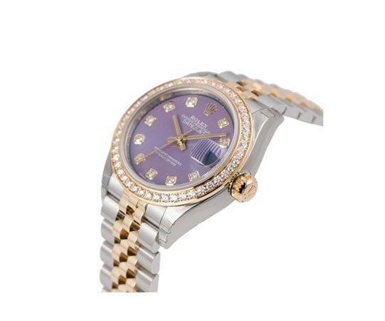 Ladies Rolex Datejust 279383rbr Lavdo 28 Diamonds Watch