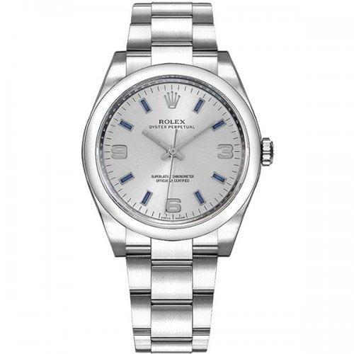 Rolex Oyster Perpetual 114200-slvbaso 34mm Silver Dial