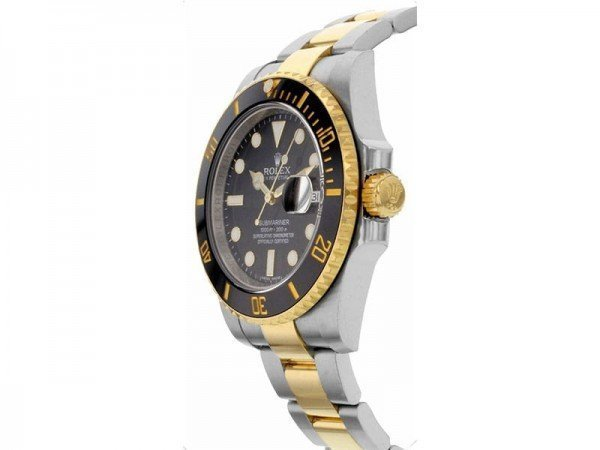 Rolex Submariner 116613LN Date Oyster Bracelet Black Dial Mens Watch