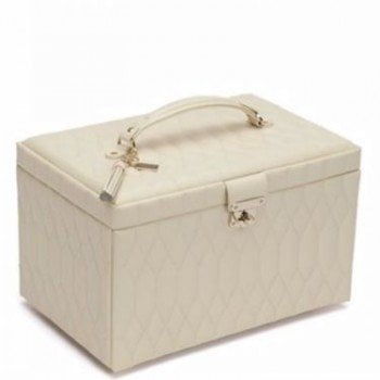 Wolf Caroline Collection Large Leather Ladies Jewelry Box