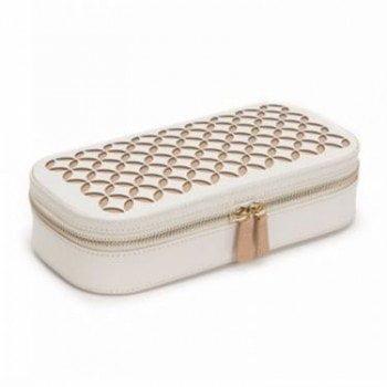 Wolf Chloe Collection Zip Around Leather Luxury Ladies Jewelry Case