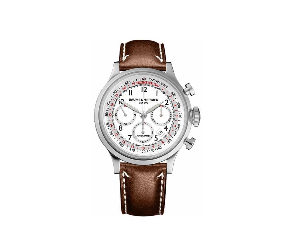 Baume et Mercier Capeland Chronograph 42mm Mens Watch MOA10000