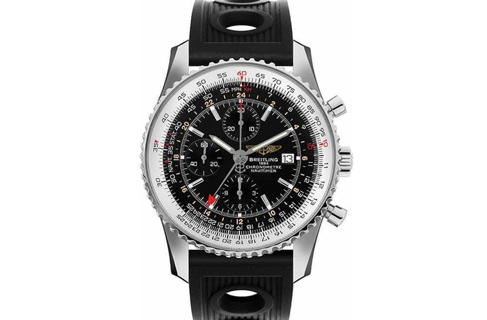 Breitling Navitimer a2432212-b726-201s GMT World Chronograph Men's Watch