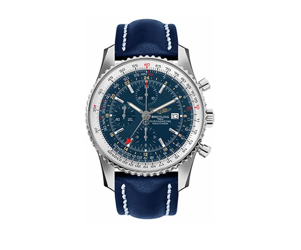 11a783866 Breitling Navitimer AB012721-C889-747P World GMT 46mm Mens Watch