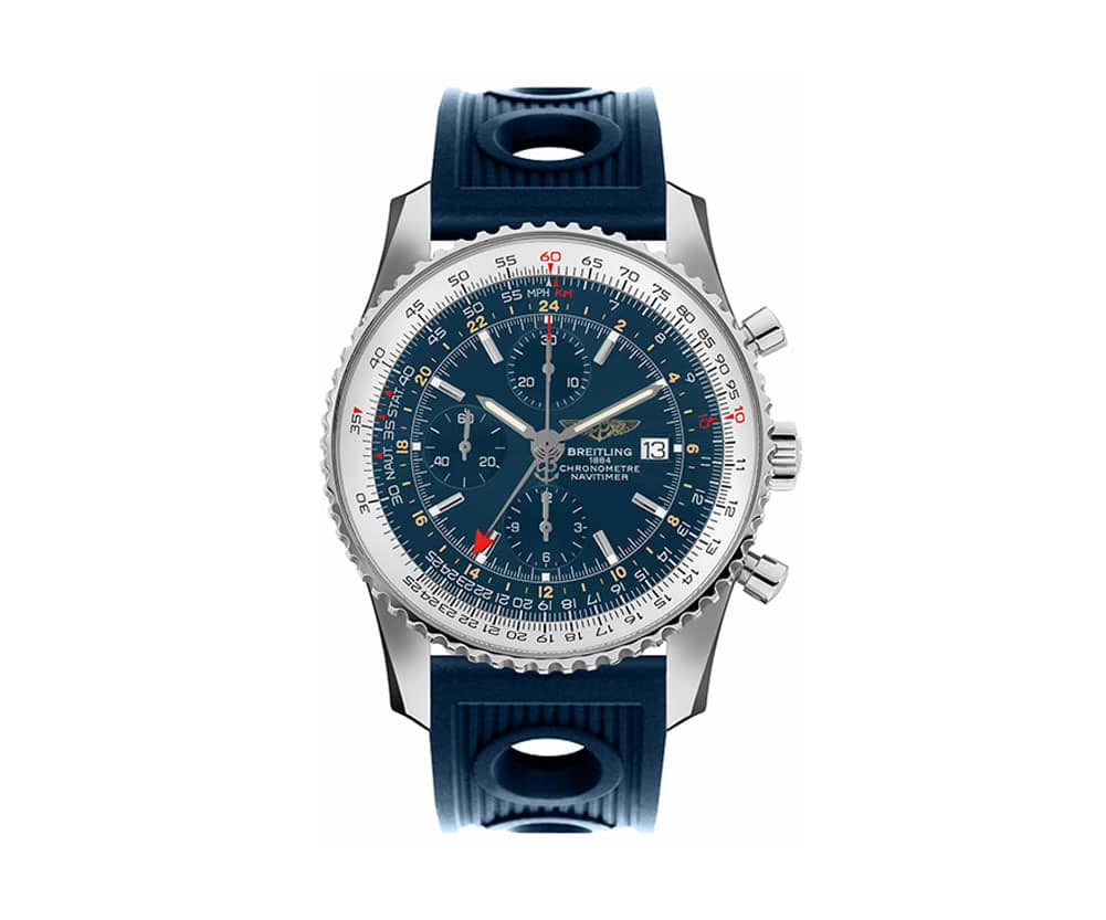 Breitling Navitimer A2432212-C651-205S World GMT Mens Watch Caliber 24 @majordor #majordor