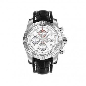 Breitling Super Avenger II White Dial Mens Watch A1337111-G779-760P