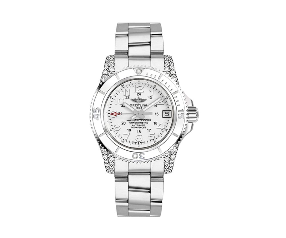 New Breitling Superocean II 36 Womens Luxury Watch A1731267-A775-179A