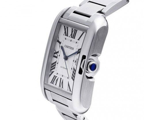 Cartier Tank Anglaise W5310009 Midsize Automatic Ladies Luxury Watch side view @majordor #majordor