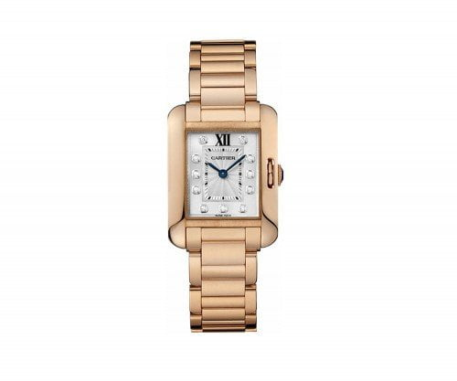 Cartier Tank Anglaise WJTA0004 Rose Gold Small Ladies Watch caliber 057 @majodor @majordor