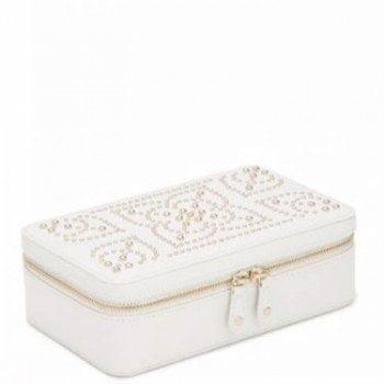 Wolf Marrakesh Collection Leather Luxury Ladies Jewelry Zip Case