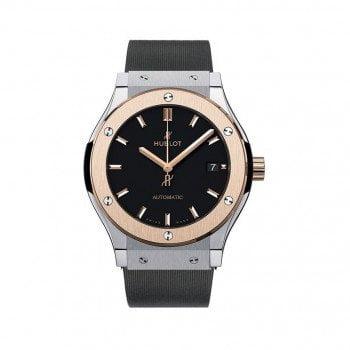 HUBLOT Classic Fusion Titanium King Gold Mens Watch 511NO1181RX