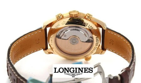 Longines Master Collection L2.714.8.78.3 Retrograde 41mm Mens Watch back case view