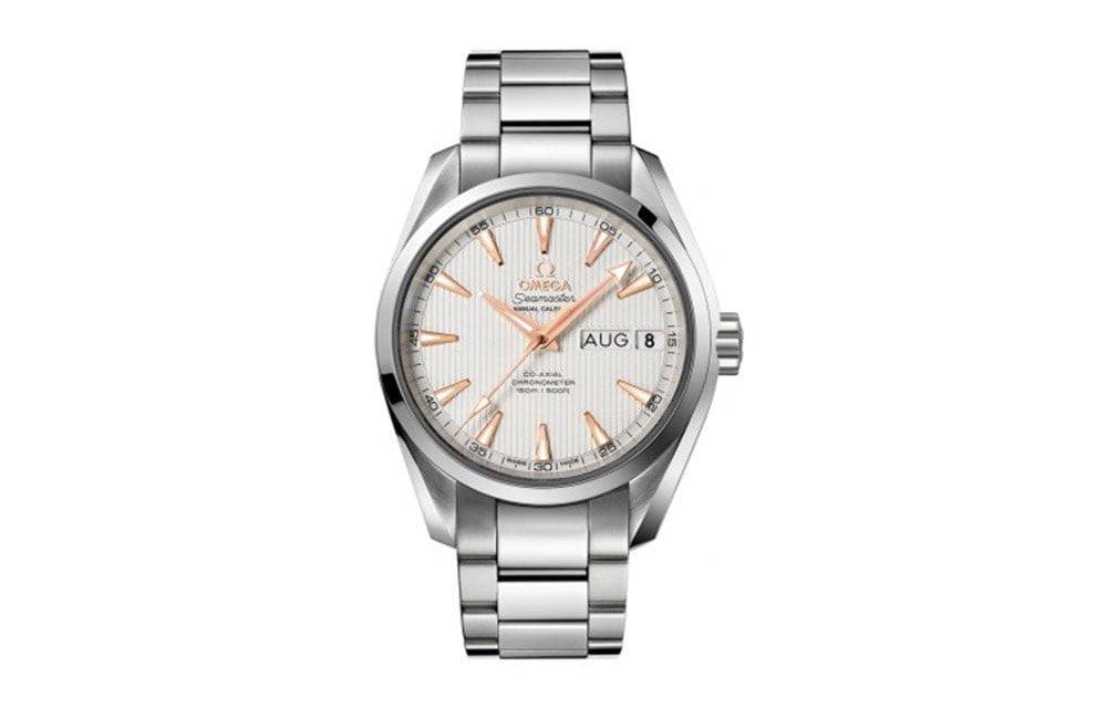 Omega Aqua Terra 231.10.39.22.02.001 Seamaster Annual Calendar Mens Watch caliber 8601 front view @majordor #majordor
