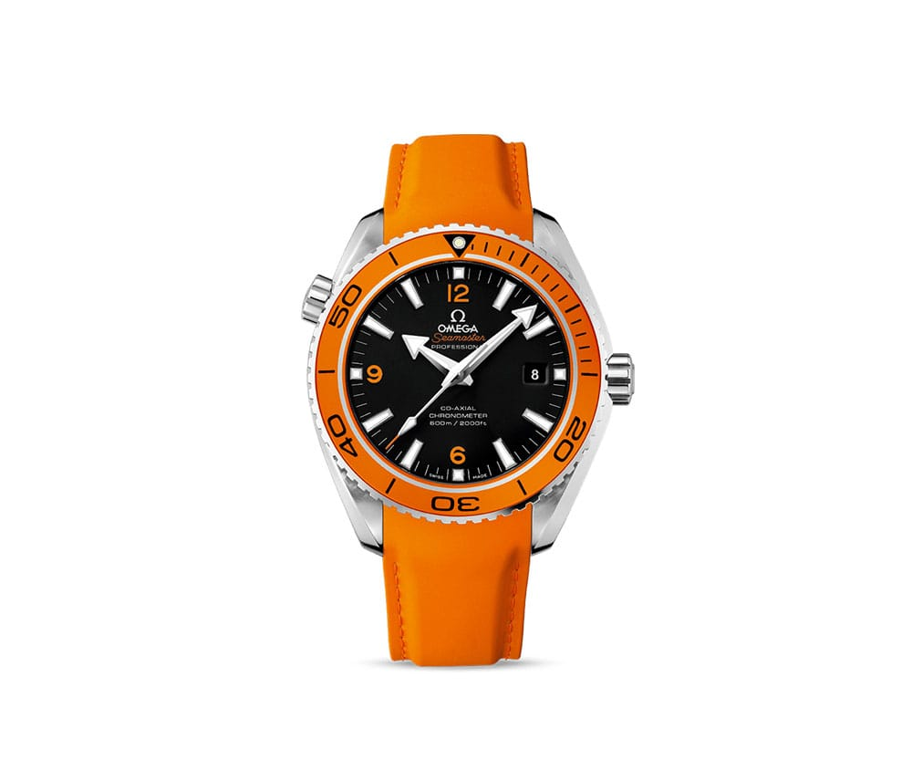 232.32.46.21.01.001 Omega Seamaster Planet Ocean 600m Orange Strap and Price 45.5 mm