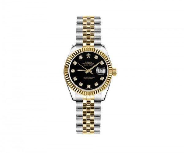 Rolex Lady-Datejust 26 Womens Luxury Watch 179173-BLKDJ
