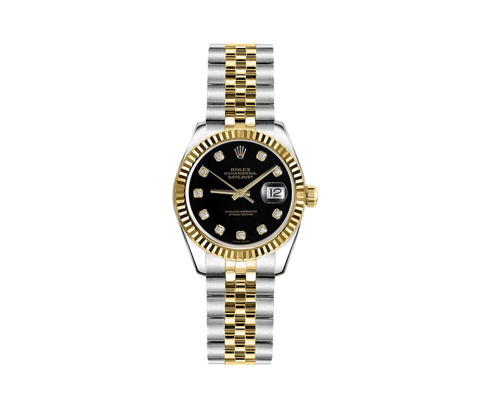 Rolex Lady-Datejust 179173-blkdj 26mm Womens Luxury Watch