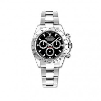 Rolex Daytona 116520 Black Cosmograph Steel Case Mens Watch @majordor #majordor