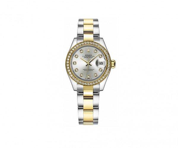 Ladies Rolex Datejust 279383RBR-SLVDO 28 Diamonds Watch