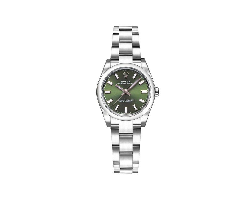 ff7b6b27caeb Rolex 176200 olgso Oyster Perpetual 26mm Green Dial Ladies Watch