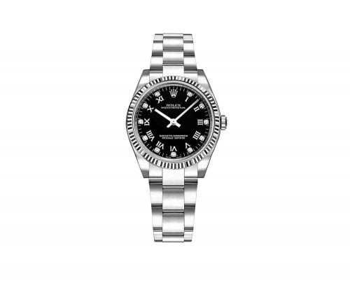 Rolex Oyster Perpetual 31mm Womens Luxury Watch 177234-BLKRDO