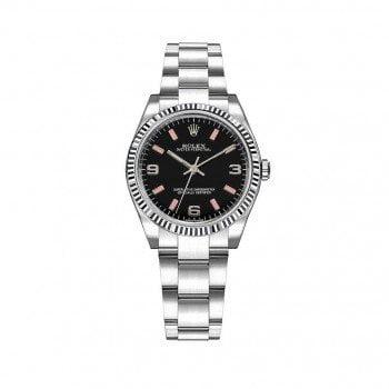 Rolex 177234-blkaso Oyster Perpetual 31mm Black Dial Womens Watch caliber 2231 @majordor #majordor
