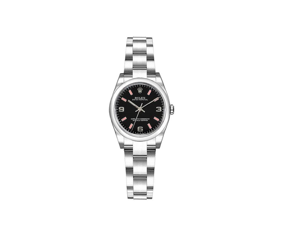 Rolex 176200 blksao Oyster Perpetual 26mm Black Dial Ladies Watch caliber 2231 @majordor #majordor