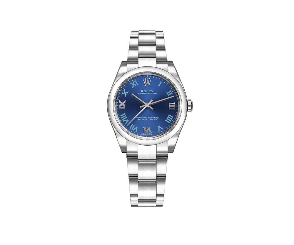Rolex m177200-0015 Oyster Perpetual 31mm Azzuro Blue Dial Watch caliber 2133 @majordor #majordor