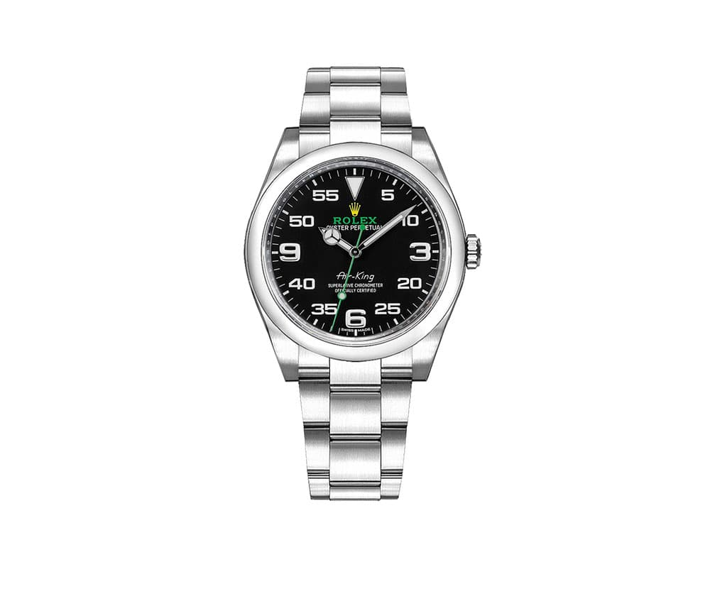 more photos 093a4 5804b Rolex 116900 Air-King Oyster Perpetual Black Dial Mens Luxury Watch